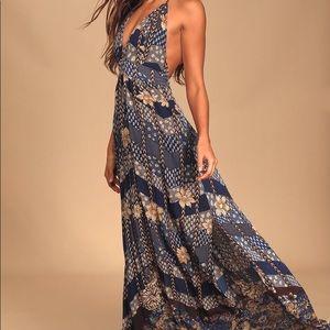 NWOT Lulu's Floral Halter Maxi Dress XS